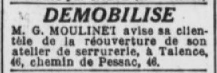 Serrurie Moulinet