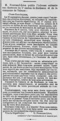 Elections Léon Fourcand remerciements