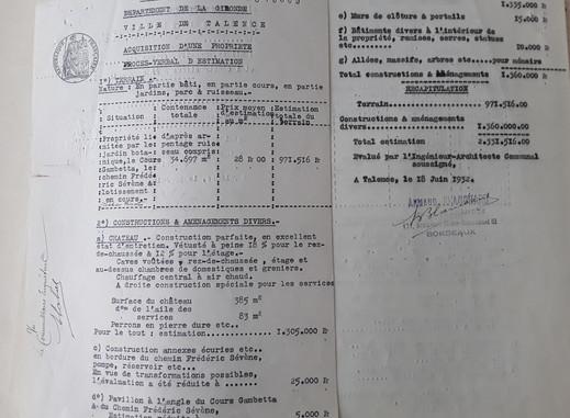 Estimation Peixotto  2.331.615 Francs