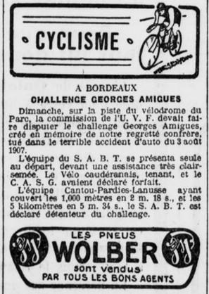 SAB meilleur club cycliste de France devient aussi le SABT