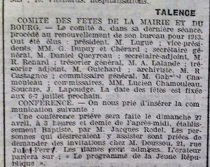 Fêtes Comité Mairie Bourg