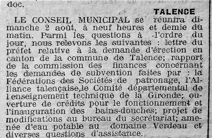 Réunions du Conseil Municipal