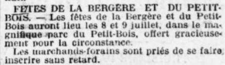 Bergère et Petit Bois