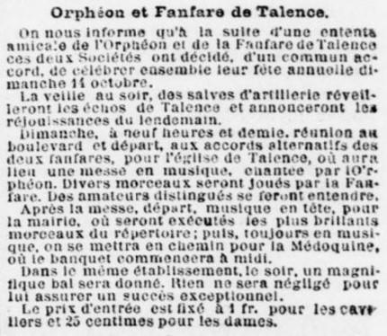 Orphéon et Fanfare.