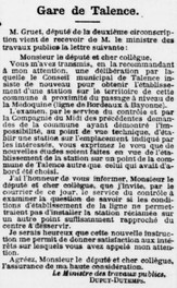 Gare Médoquine