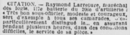 Citation LARRETURE Raymond