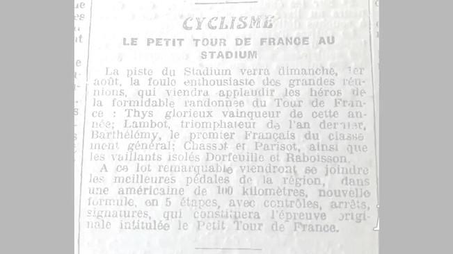 Ce petit film raconte la courte mais riche histoire du vélodrome de Talence. Film de l'auteur. Ce document est composé d'articles d'époque. Vous pouvez à tout moment mettre sur pause pour lire les extraits.
