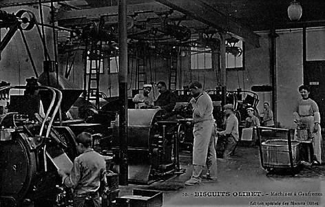 Biscuits Olibet machine à gaufrettes