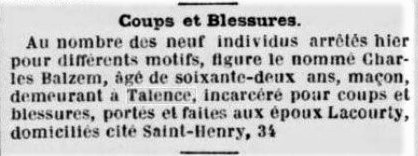 Coups et Blessures