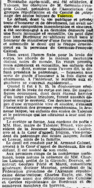 Obsèques Germain-François Calmel