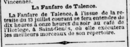 Concert de la Fanfare de Talence