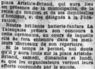 Inauguration place Aristide Briand