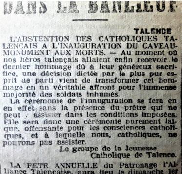 Les catholiques sont solidaires