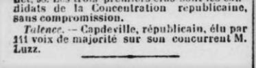 Victoire de Capdeville Républicain