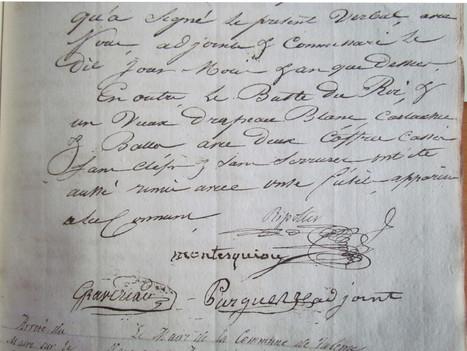 Signature fébrile de Montesquiou en fin de mandat