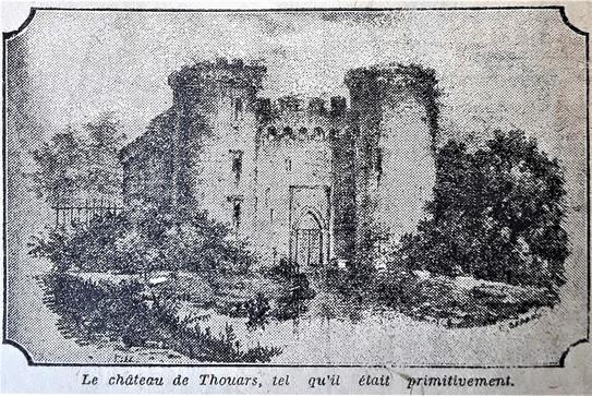 Le Château de Thouars en 1412