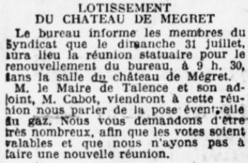 Château-Mégret Lotissement