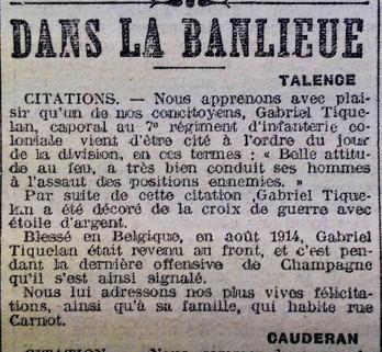 Citation Gabriel Tiquelan