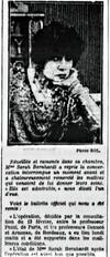 Médecin de Sarah Bernhardt elle souffre d'une gangrène du genou provoquée par une tuberculose osseuse.