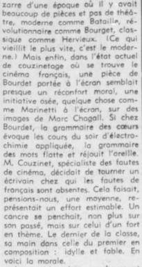 François Chalais Cinéma Français est nul