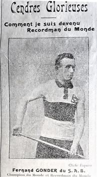 Recordman du Monde mais réformé en 1915.