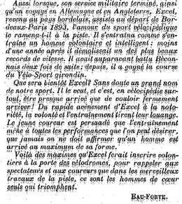 Témoin du premier Bordeaux Paris