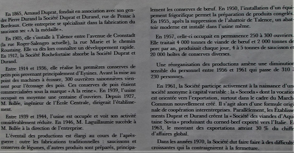 Duprat Durand Historique