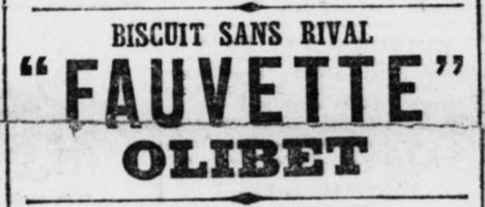 Fauvette biscuit Olibet