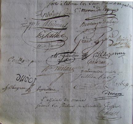 Signatures du conseil renforcé