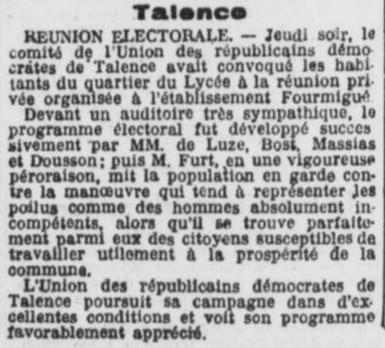 Réunion Electorale