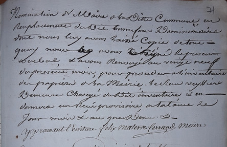 Materre-Ferrand Maire 1806-1808