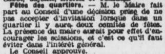 Participation du Maire