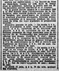 Comité Petit-Bois fondé en 1898