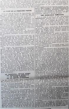 Décoré par le maréchal Pétain.