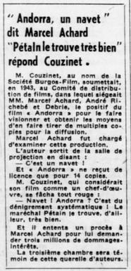 Marcel Achard VS Philippe Pétain