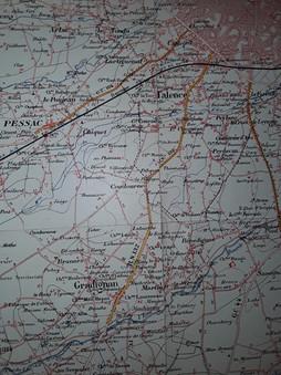Plan des voies ferrées à traction par cheval