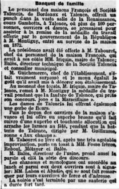 Banquet chocolaterie François