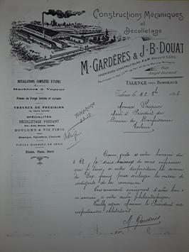 Gardéres & JB Douat dons aux indigeants