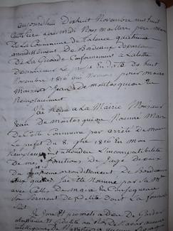 De Montesquiou nommé Maire