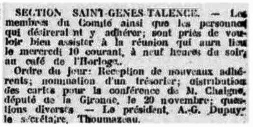 Comité St Genès