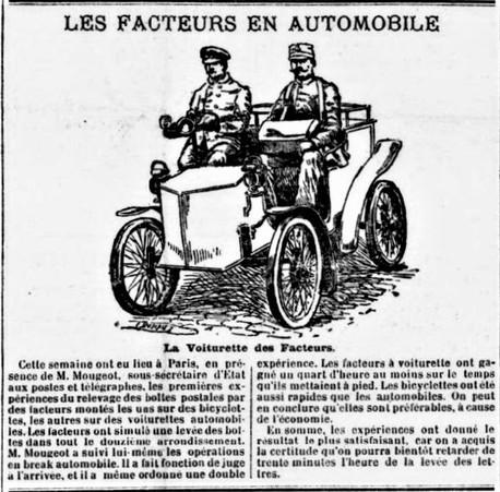 Facteurs en automobile avec chauffeur