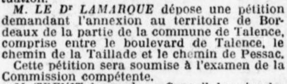 Bordeaux veut annexer le quartier