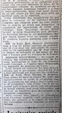 Election Municipale URD de Luze