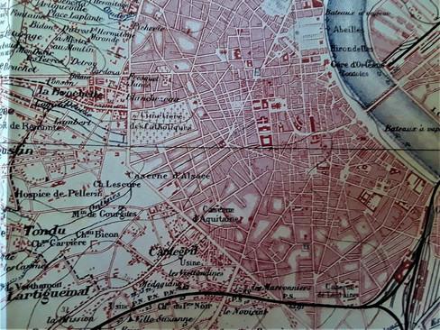 Plan de Talence et de sa banlieue