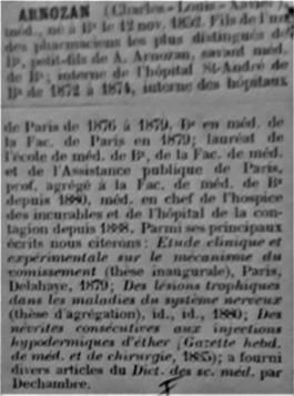 Professeur Xavier Arnozan Travaux