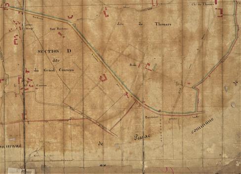 Plan Talence Sud Ouest Raba Thouars