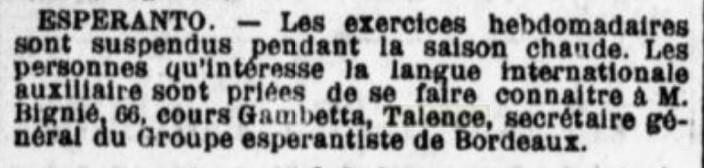 Ecole d'Esperanto