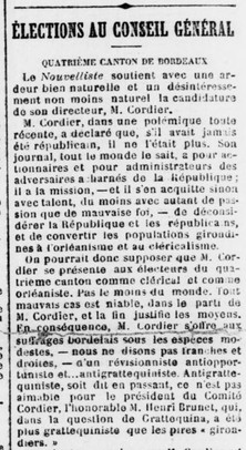 M. Cordier candidat Orléaniste