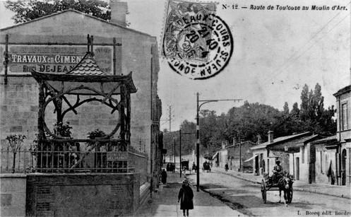 Route de Route de Toulouse carrefour Rue de Castres 1906.