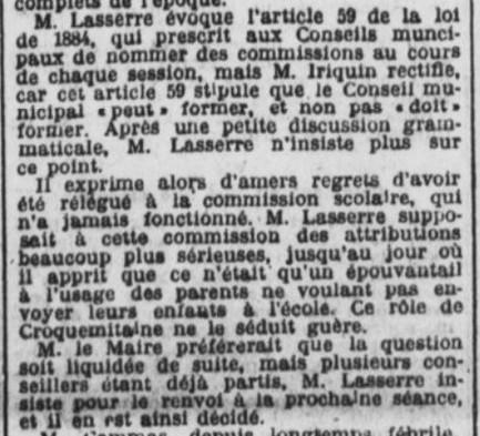 Opposition Lasserre Iriquin